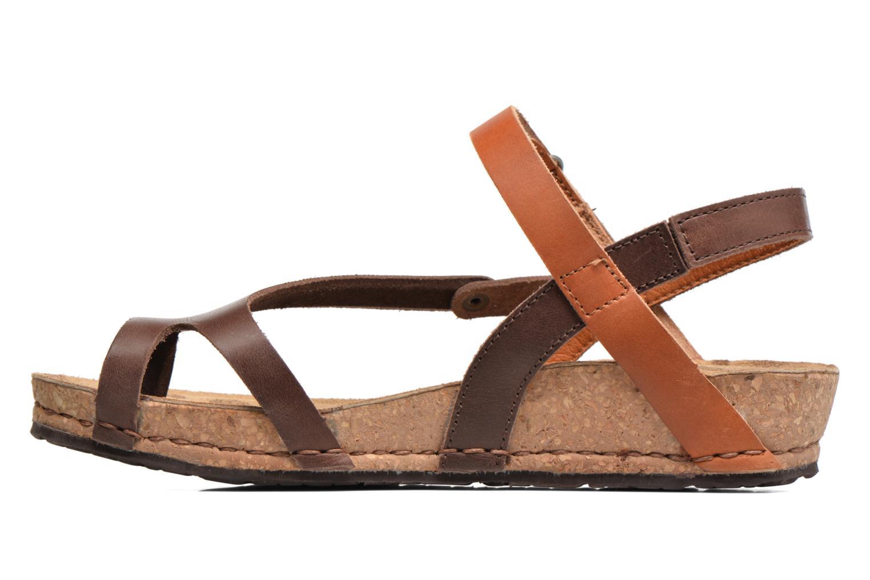 Sandales et nu-pieds Art Pompei 737 Marron vue face