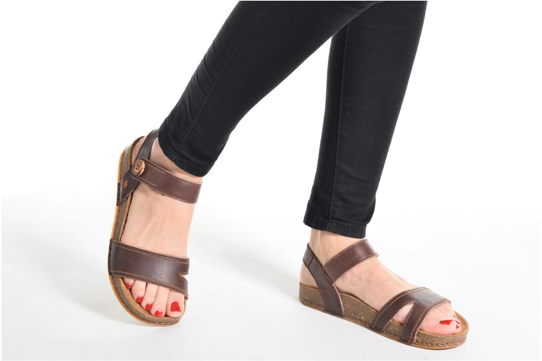 Sandales et nu-pieds Art We Walk 866 Marron vue bas / vue portée sac