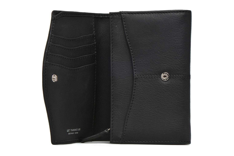 Porte monnaie Valentine rabat 4cc Noir