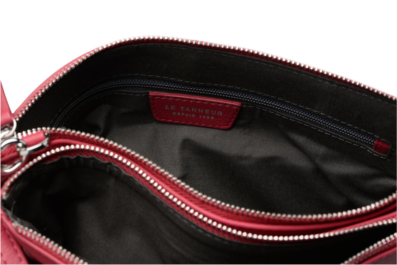 Sacs à main Le Tanneur Pochette double zippée Valentine Bordeaux vue gauche