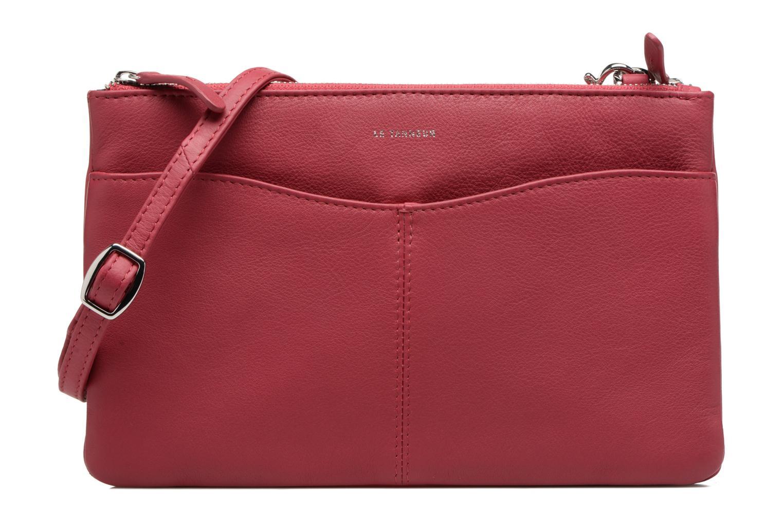 Sacs à main Le Tanneur Pochette double zippée Valentine Bordeaux vue détail/paire