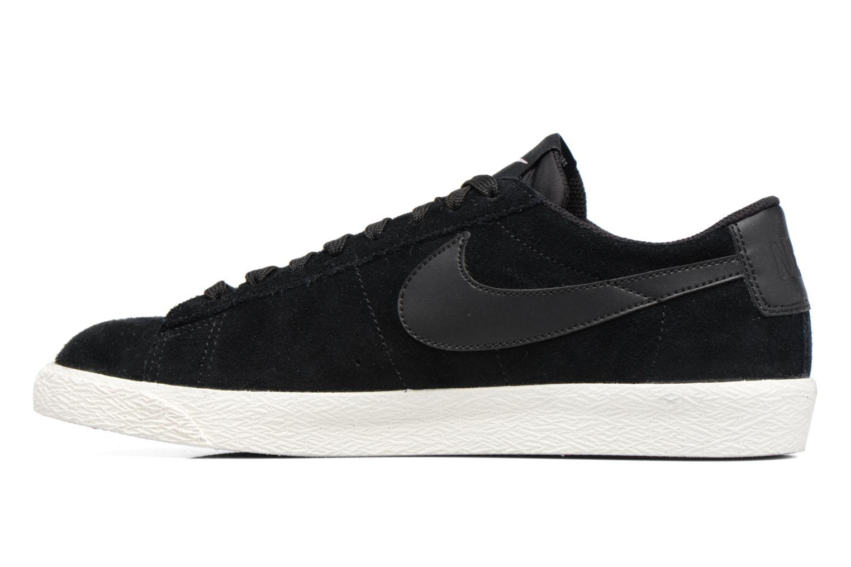 Sneaker Nike Blazer Low schwarz ansicht von vorne