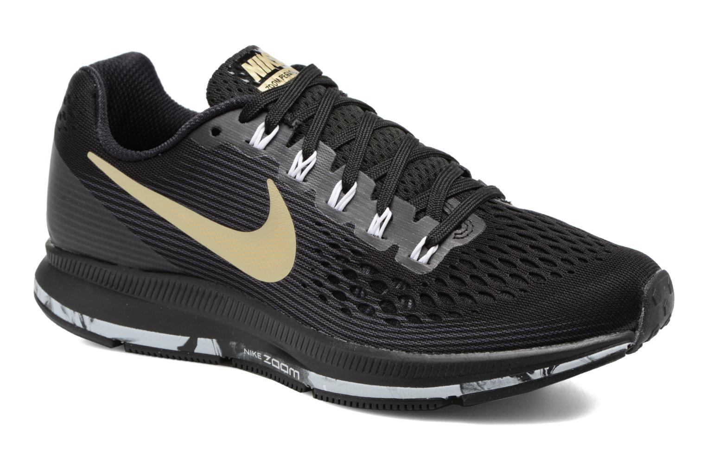 Wmns Nike Air Zoom Pegasus 34 Black/Mtlc Gold Star-Anthracite-White