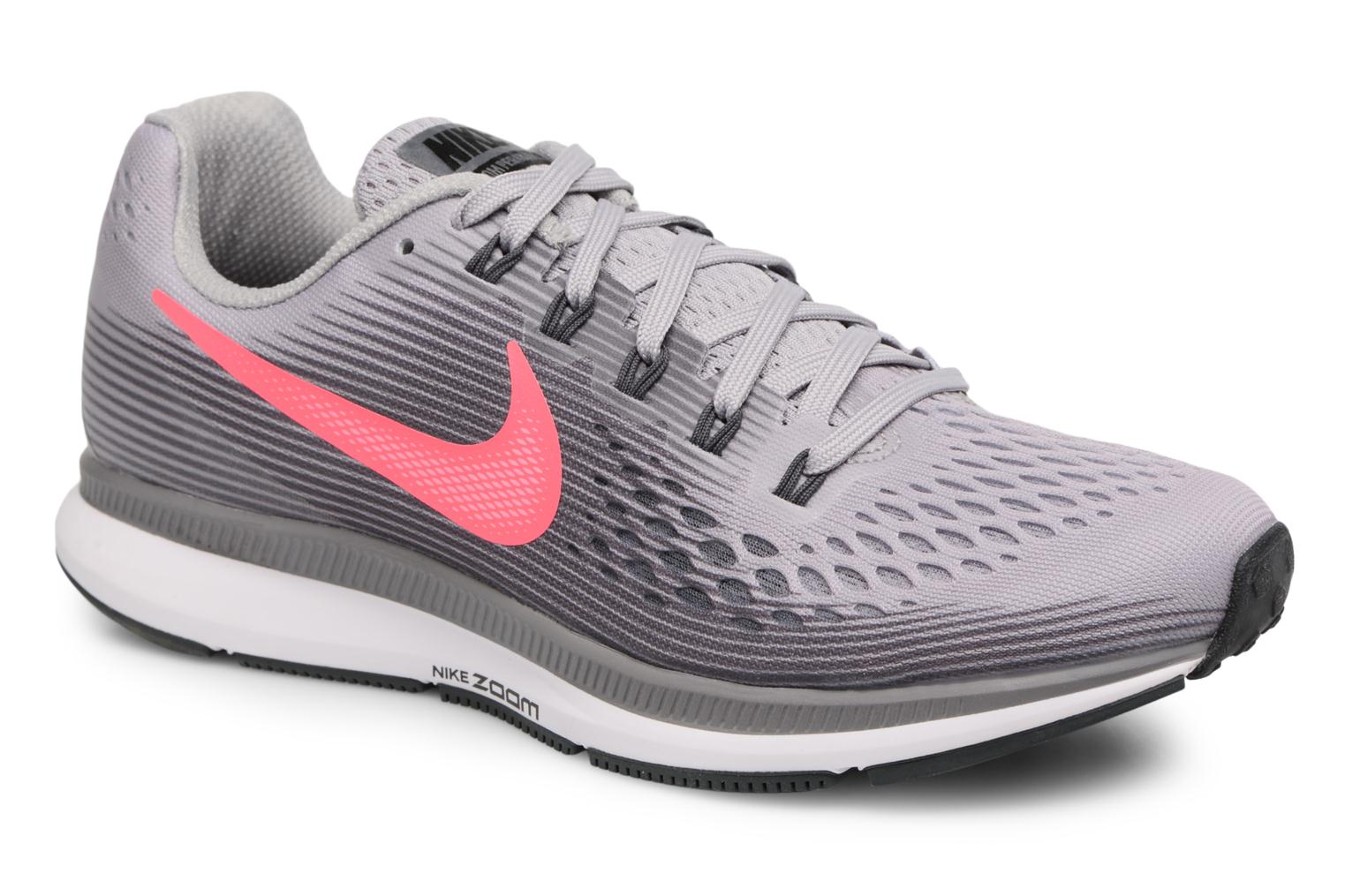Wmns Nike Air Zoom Pegasus 34 Atmosphere Grey/Racer Pink-Gunsmoke