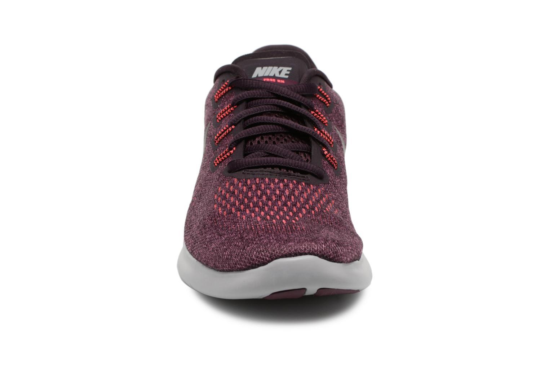 Chaussures de sport Nike Wmns Nike Free Rn 2017 Violet vue portées chaussures