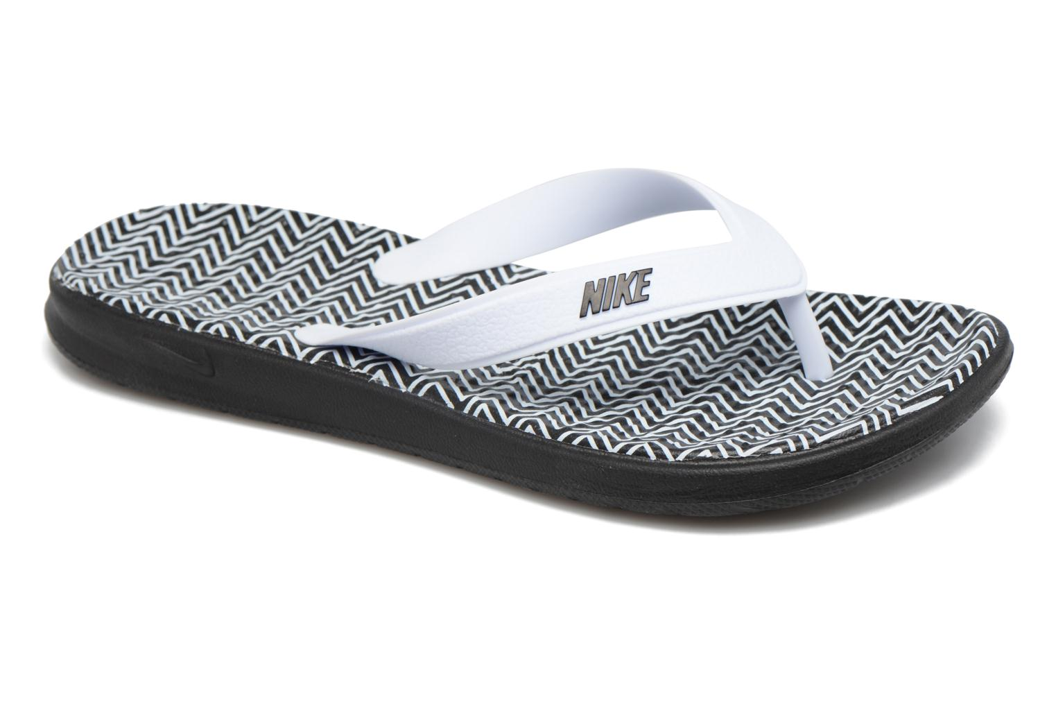 Tongs Nike Nike Solay Blanc vue détail/paire