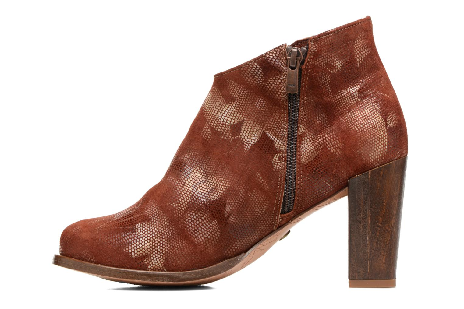 Ankle boots Neosens Gloria S553 Brown front view