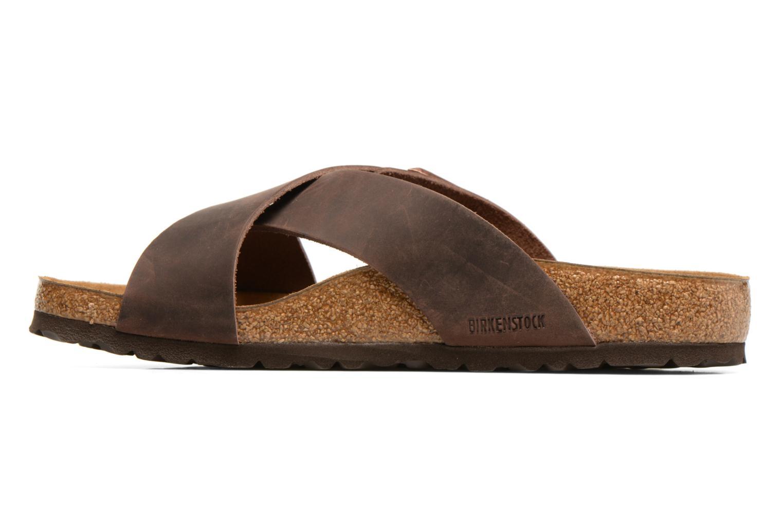 Sandales et nu-pieds Birkenstock Tunis Marron vue face