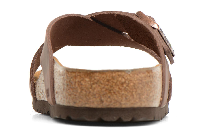 Sandales et nu-pieds Birkenstock Tunis Marron vue droite