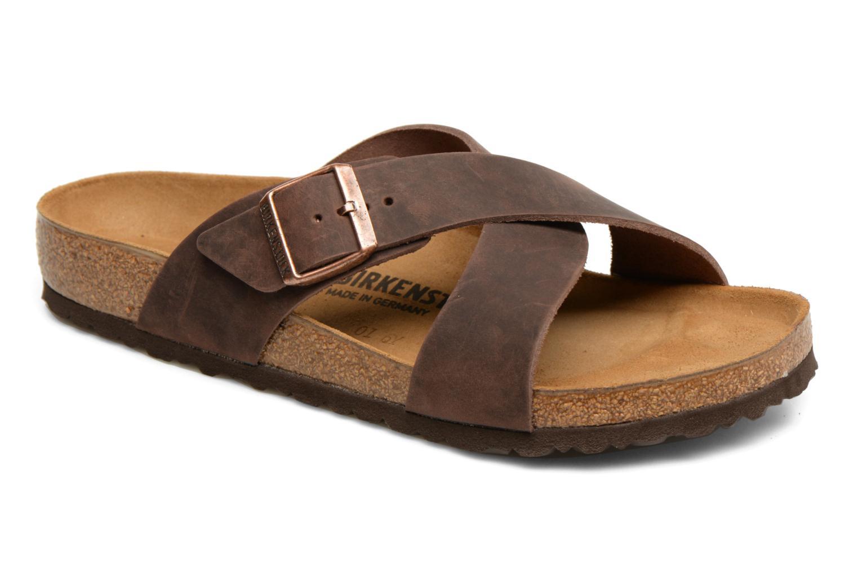 Sandales et nu-pieds Birkenstock Tunis Marron vue détail/paire