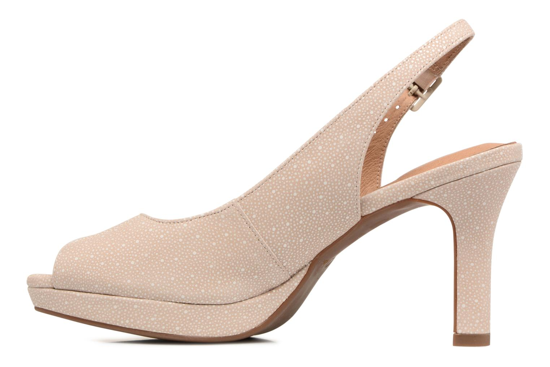 Sandales et nu-pieds Clarks Mayra Blossom Beige vue face