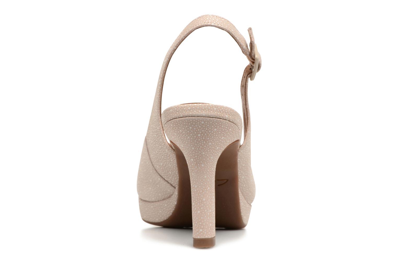 Sandales et nu-pieds Clarks Mayra Blossom Beige vue droite