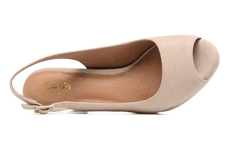 Sandales et nu-pieds Clarks Mayra Blossom Beige vue gauche