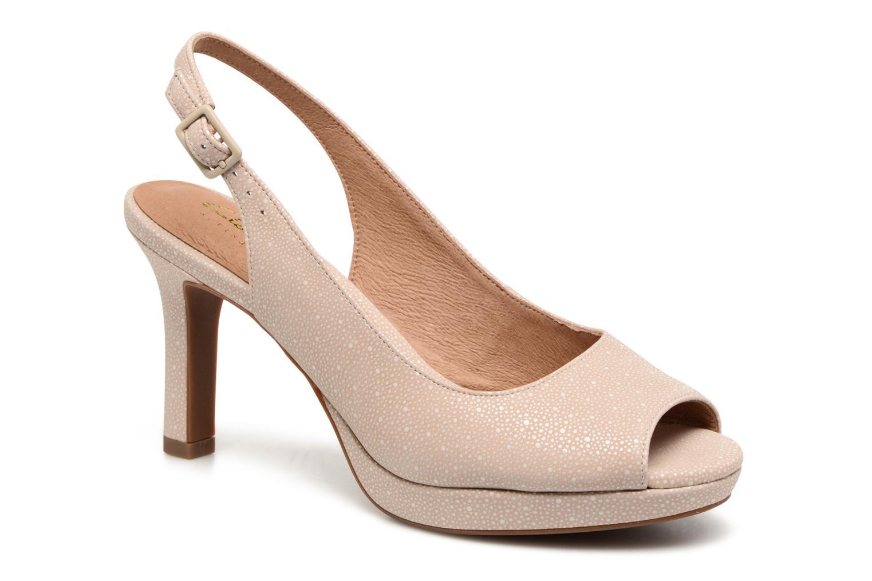 Sandales et nu-pieds Clarks Mayra Blossom Beige vue détail/paire