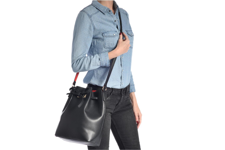 Sacs à main Pieces Deena Bucket Bag Noir vue haut