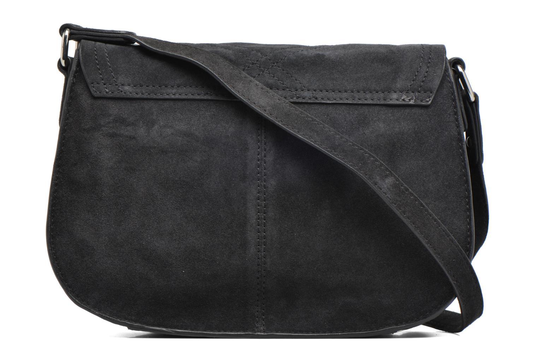 Sacs pochettes Pieces Mery Leather Cross Over Bag Noir vue face