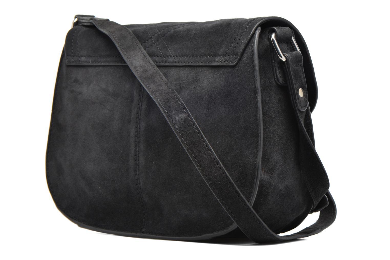Sacs pochettes Pieces Mery Leather Cross Over Bag Noir vue droite