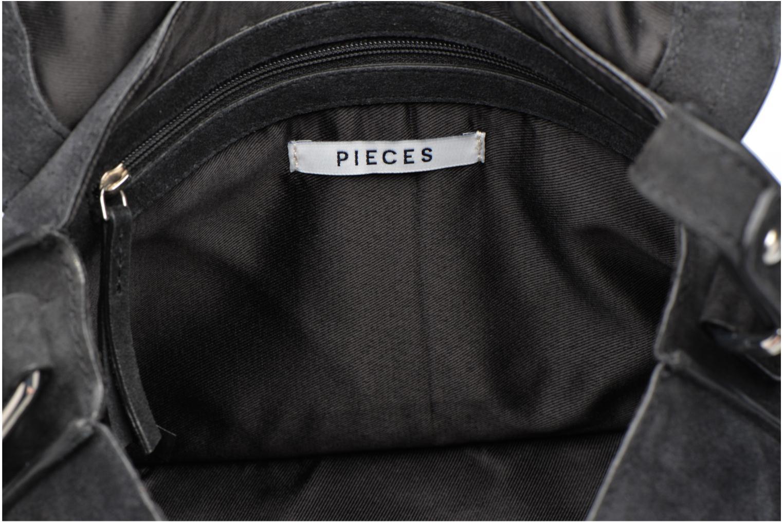 Sacs pochettes Pieces Mery Leather Cross Over Bag Noir vue derrière