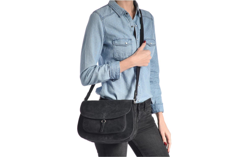 Sacs pochettes Pieces Mery Leather Cross Over Bag Noir vue haut