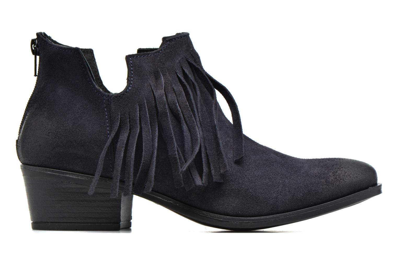 Bottines et boots Pieces Decca Suede Boot Fringe Navy Blazer Bleu vue derrière