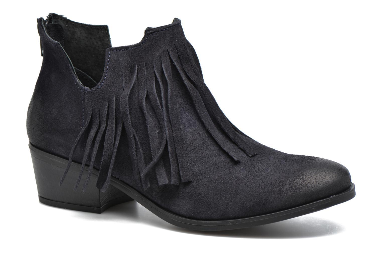 Bottines et boots Pieces Decca Suede Boot Fringe Navy Blazer Bleu vue détail/paire