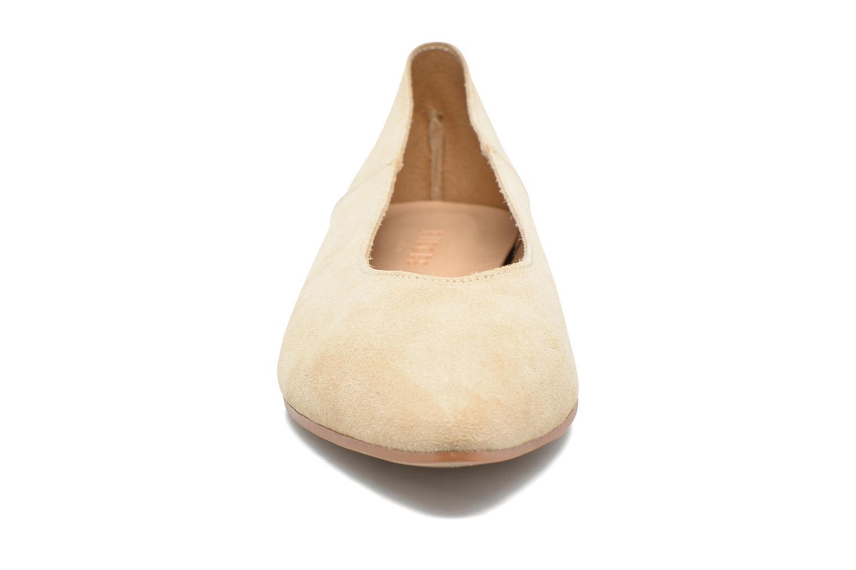 Ballerines Pieces Palentina Suede Ballarina Nude Beige vue portées chaussures
