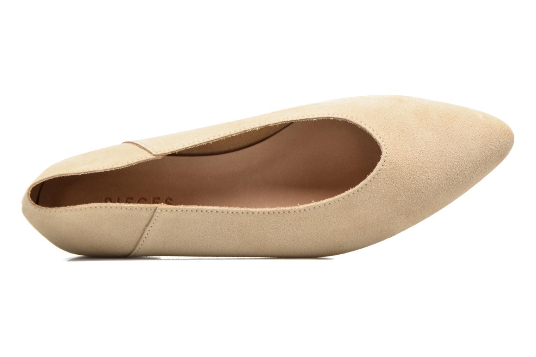 Ballerina's Pieces Palentina Suede Ballarina Nude Beige links