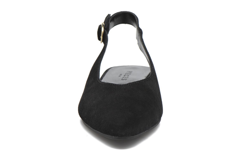 Ballerines Pieces Pix Suede Shoe Black Noir vue portées chaussures
