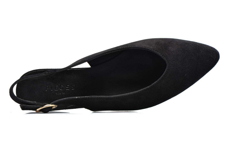 Ballerine Pieces Pix Suede Shoe Black Nero immagine sinistra