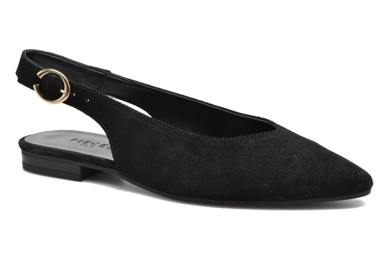 Ballerines Pieces Pix Suede Shoe Black Noir vue détail/paire