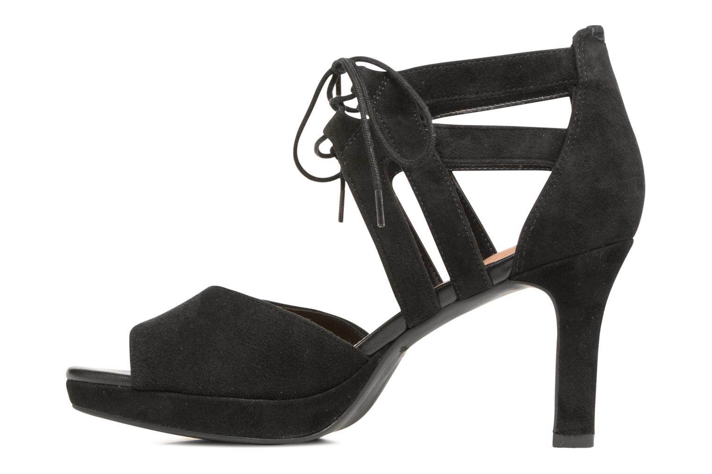 Sandales et nu-pieds Clarks Mayra Ellie Noir vue face