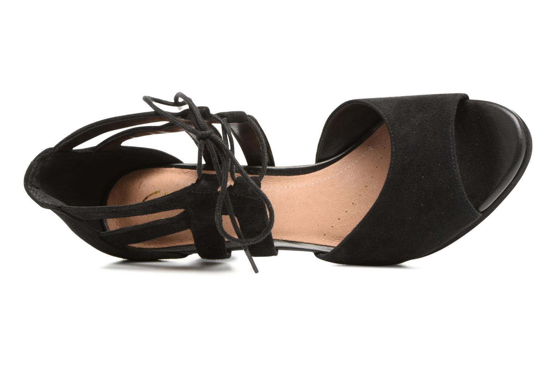 Sandales et nu-pieds Clarks Mayra Ellie Noir vue gauche