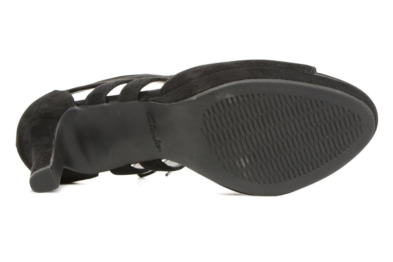 Sandales et nu-pieds Clarks Mayra Ellie Noir vue haut