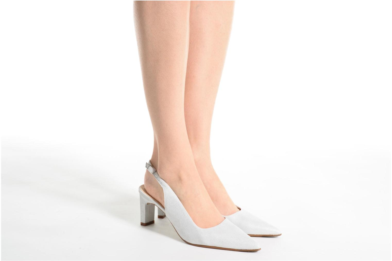 High heels Elizabeth Stuart Rulex 415 White view from underneath / model view