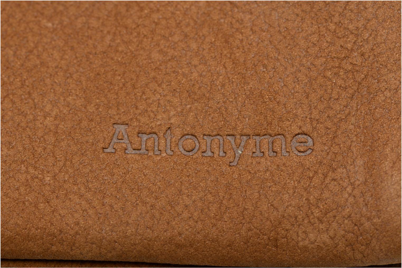 Petite Maroquinerie Antonyme by Nat & Nin Porte-monnaie Lenny Cuir Marron vue derrière