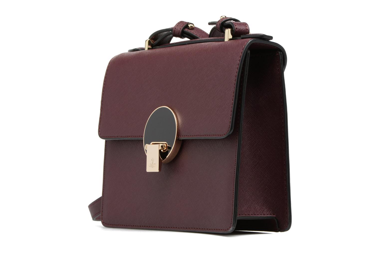 Handtaschen Vivienne Westwood Crossbody Opio Saffiano weinrot schuhe getragen