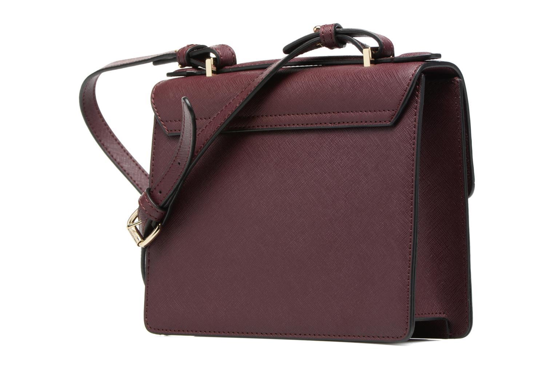 Handtaschen Vivienne Westwood Crossbody Opio Saffiano weinrot ansicht von rechts