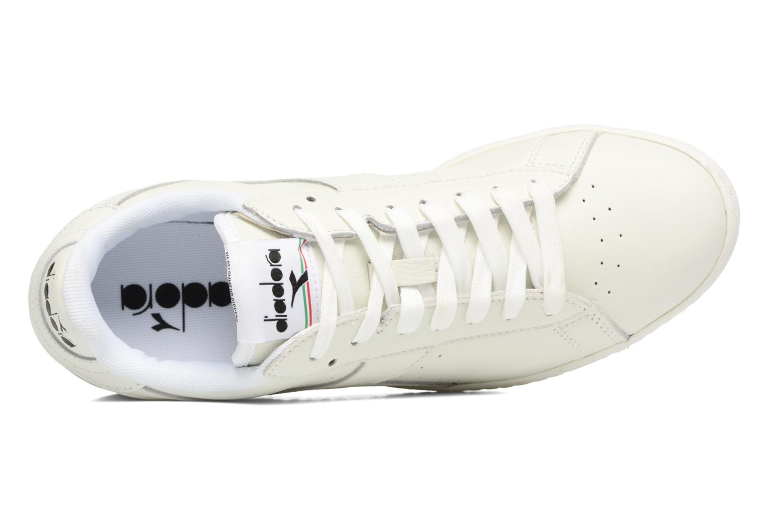 Sneakers Diadora GAME L LOW WAXED Bianco immagine sinistra