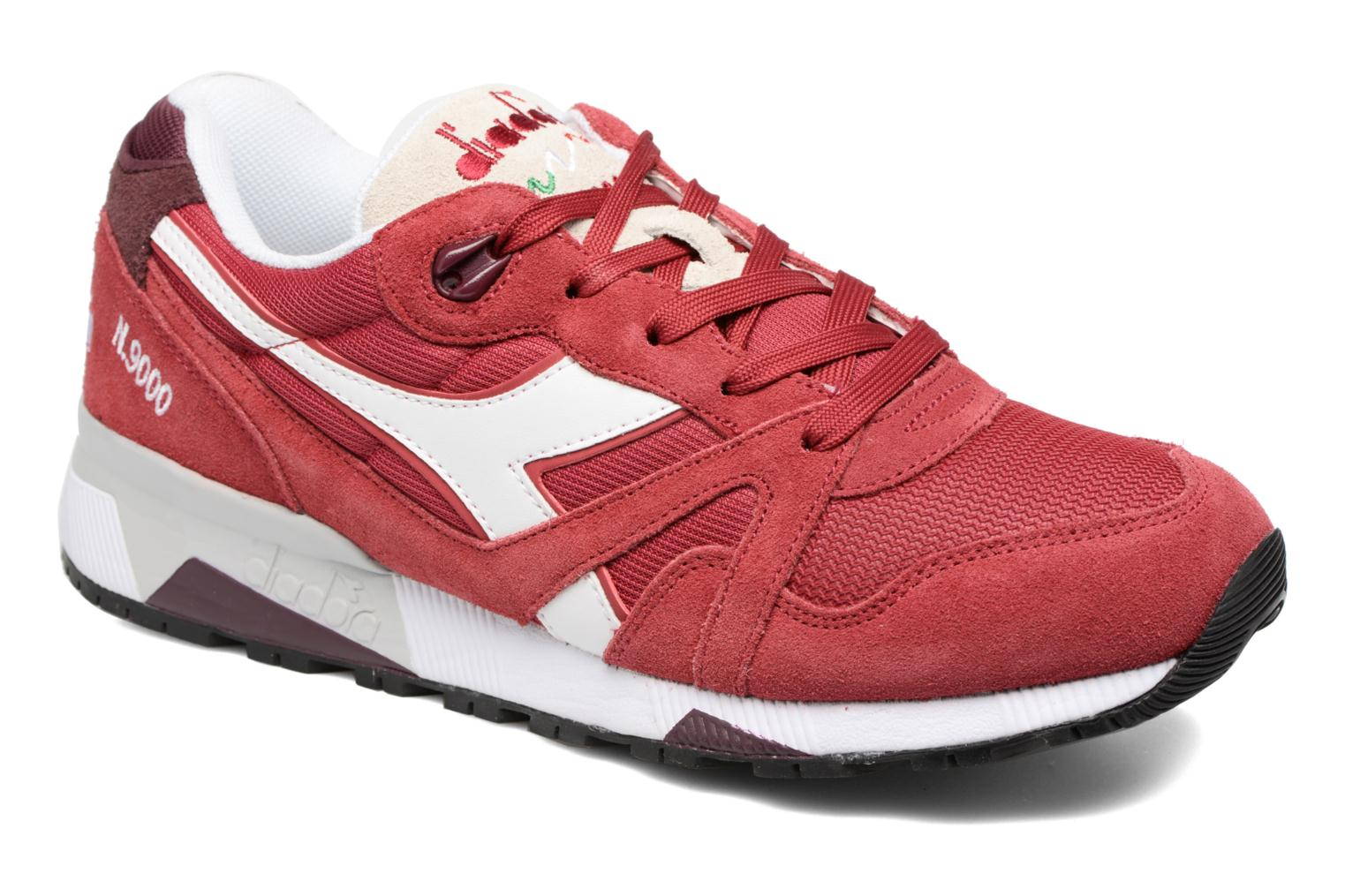 Trainers Diadora N9000 III Red detailed view/ Pair view
