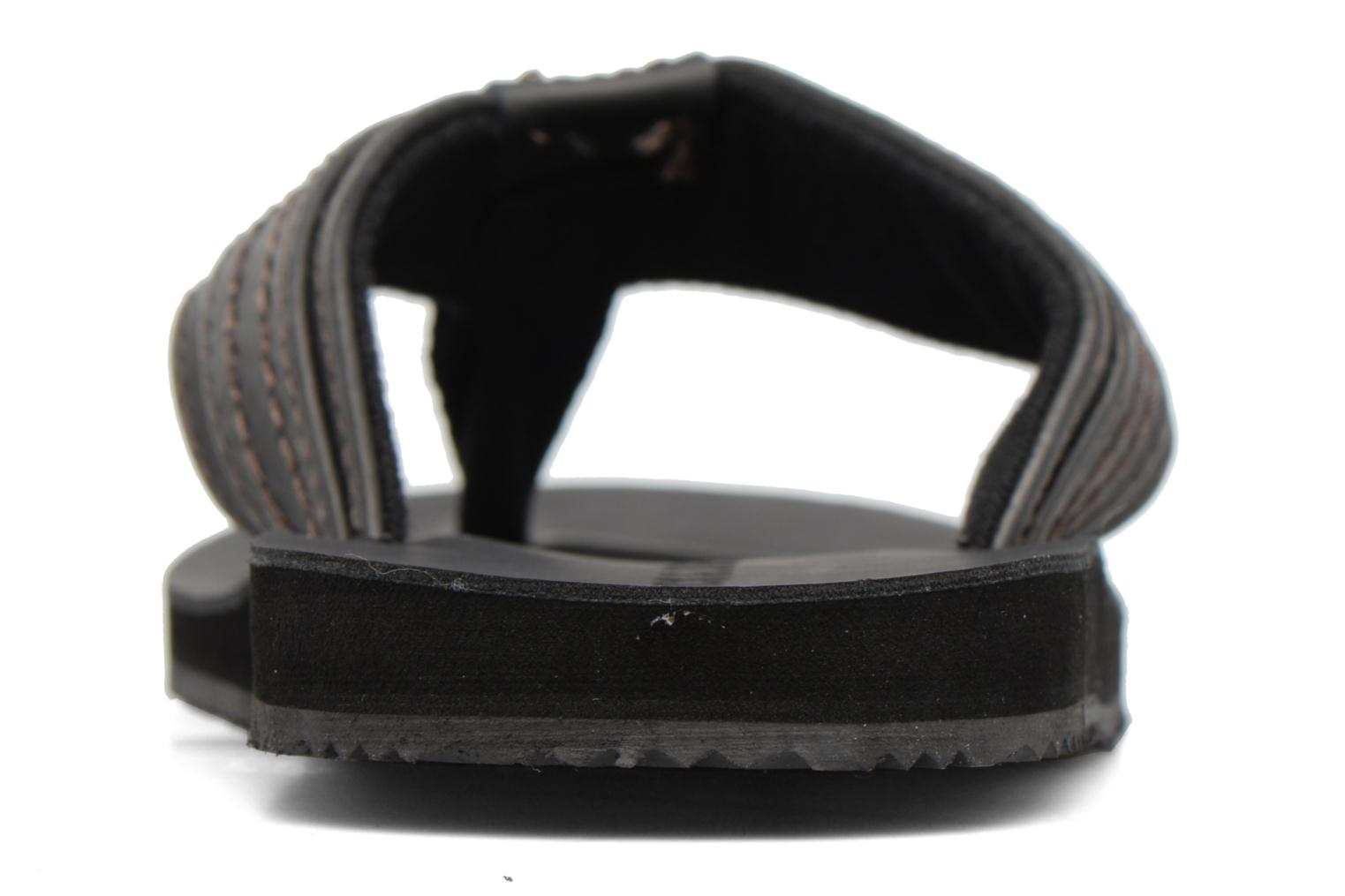 Flip flops Jack & Jones Bob leather sandal Grey view from the right