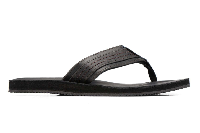 Tongs Jack & Jones Bob leather sandal Gris vue derrière