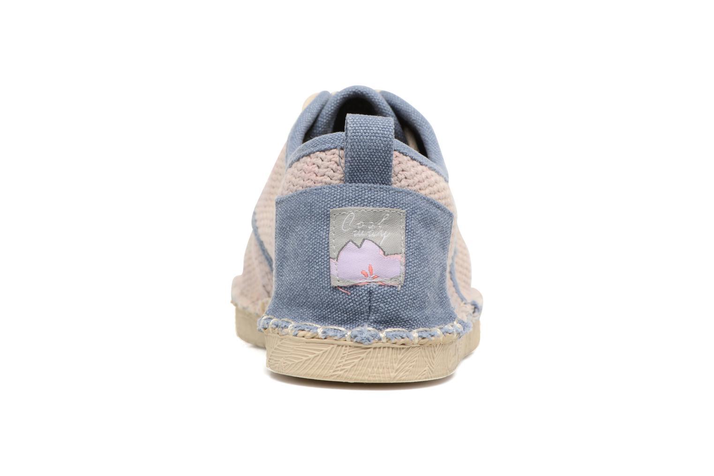Zapatos con cordones Coolway Trebol Marrón vista lateral derecha