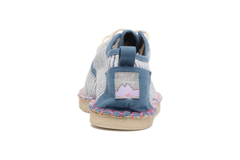 Zapatos con cordones Coolway Trebol Azul vista lateral derecha