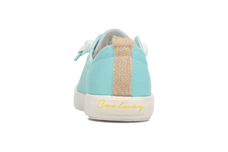 Zapatos con cordones Coolway Tuna Azul vista lateral derecha