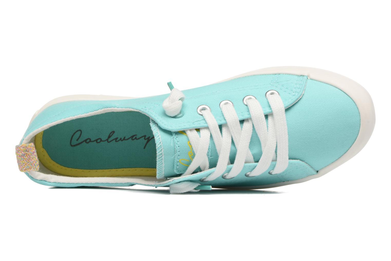 Zapatos con cordones Coolway Tuna Azul vista lateral izquierda