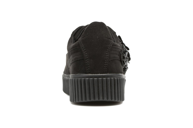 Sneakers Molly Bracken Black Flowers Nero immagine destra