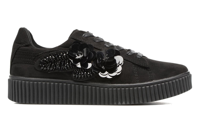Sneakers Molly Bracken Black Flowers Zwart achterkant