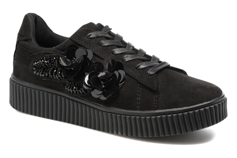 Sneakers Molly Bracken Black Flowers Zwart detail