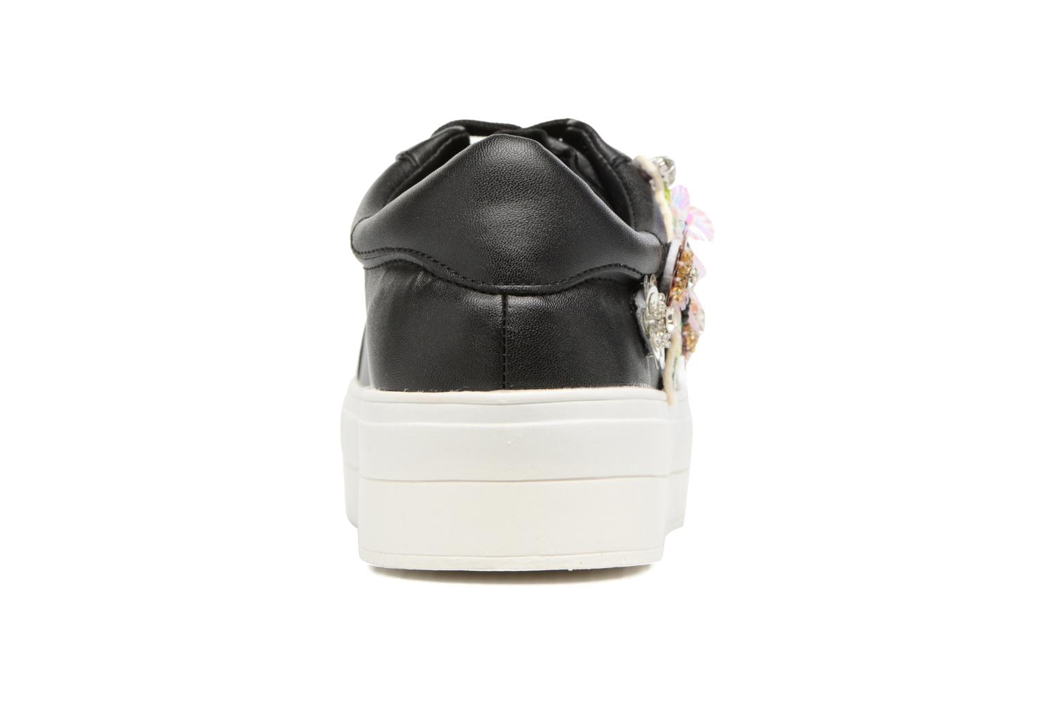 Trainers Molly Bracken Flower Sneakers Black view from the right