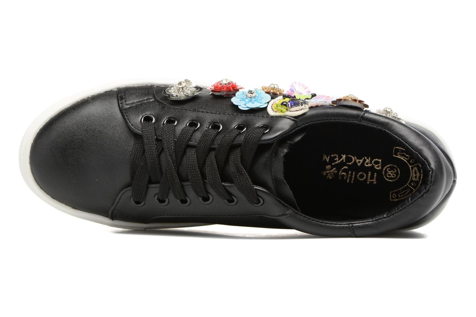 Trainers Molly Bracken Flower Sneakers Black view from the left